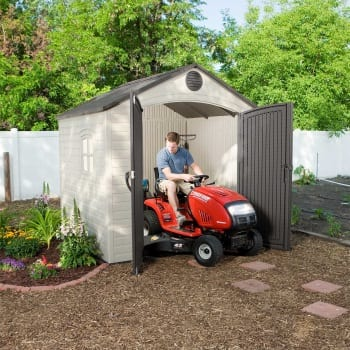 Plastic Outdoor Storage Shed Lifetime 8ft x 7.5ft - In Situ