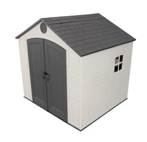Plastic Outdoor Storage Shed Lifetime 8ft x 7.5ft - Product Image
