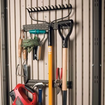 Plastic Outdoor Storage Shed Lifetime 8ft x 7.5ft - Tool Hooks