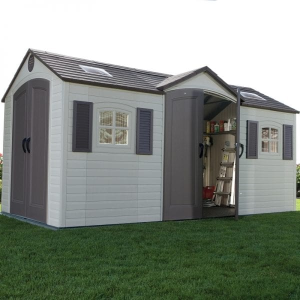 Plastic Outdoor Storage Shed DD Lifetime 15ft x 8ft - In Situ