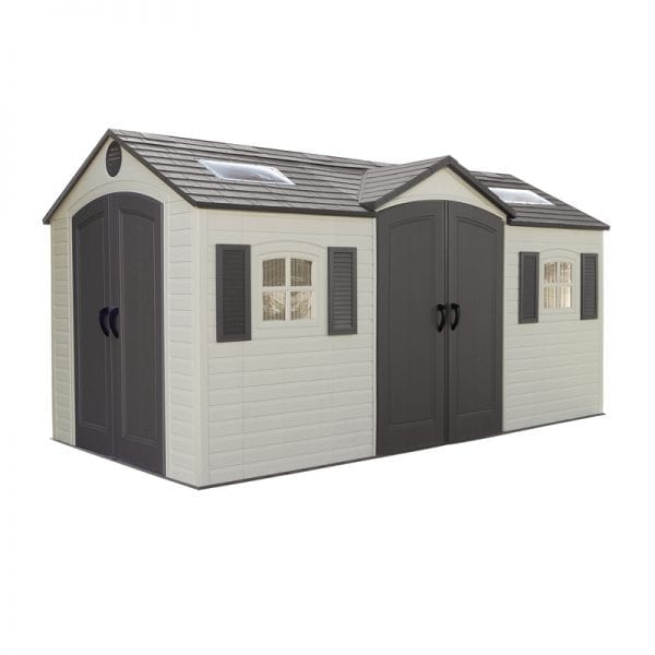 Plastic Outdoor Storage Shed DD Lifetime 15ft x 8ft - Product Image