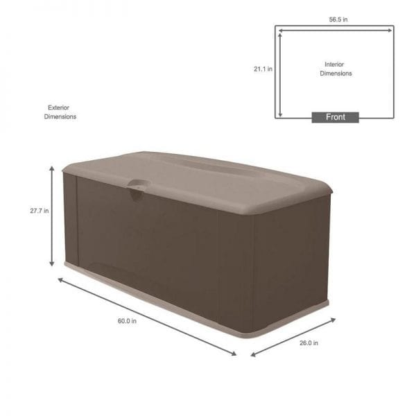 Plastic Storage Box XL - Rubbermaid Dimensions