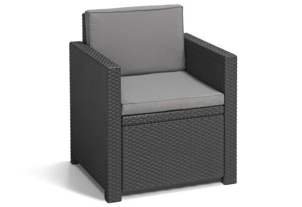 Rattan Sofa Lounge Set Grey - Chair