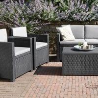 Rattan Sofa Lounge Set Grey - In Situ