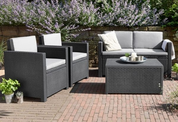 Rattan Sofa Lounge Set Grey - In Situ