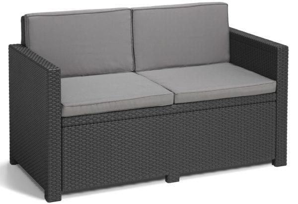 Rattan Sofa Lounge Set Grey - Sofa