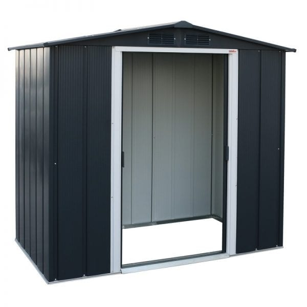 Sapphire 6x4 Metal Shed - Doors Open