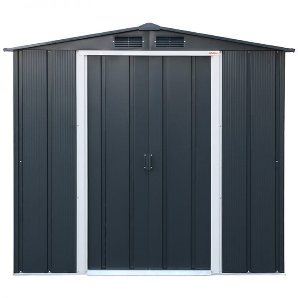 Sapphire 6x4 Metal Shed - Front