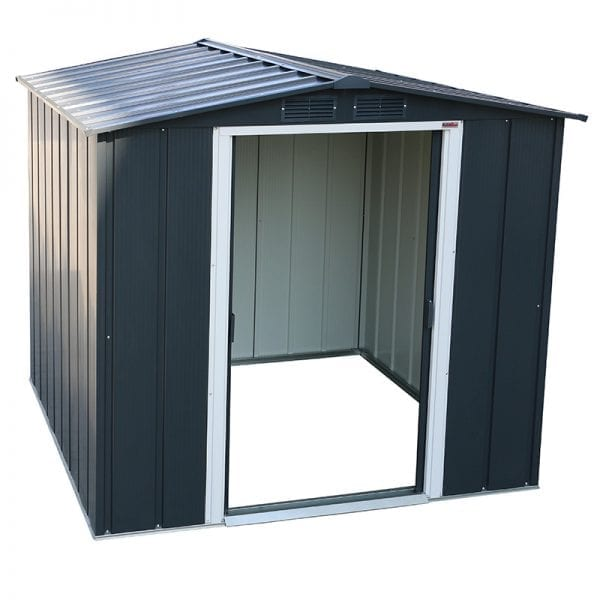Sapphire 6x6 Metal Shed - Doors Open