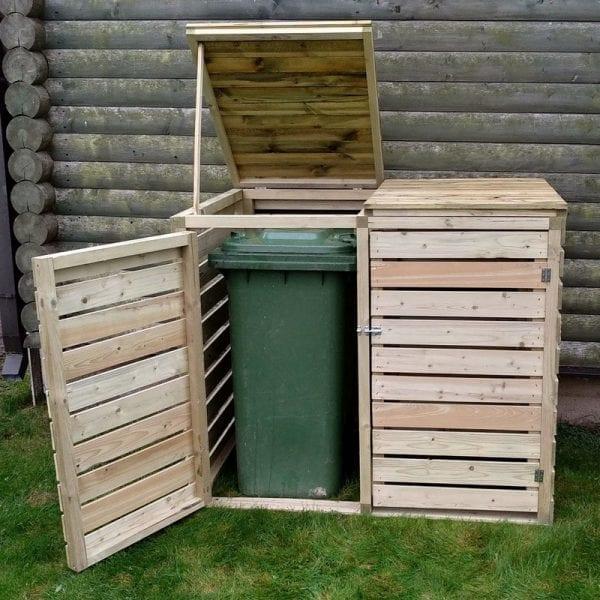 Wooden Double Bin Store Pantheon In Use - Open
