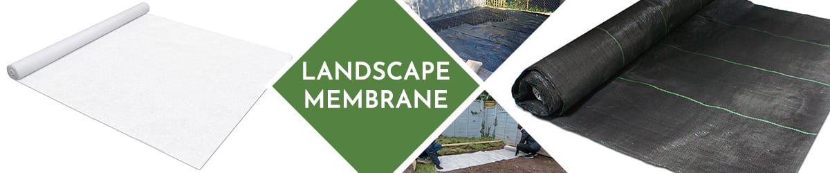 Landscape membrane for garden borders and gravel driveways
