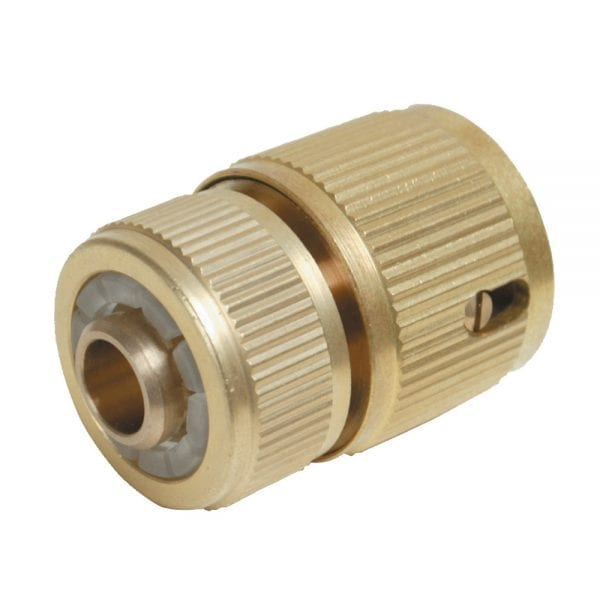 Quick Connector Auto Stop Brass