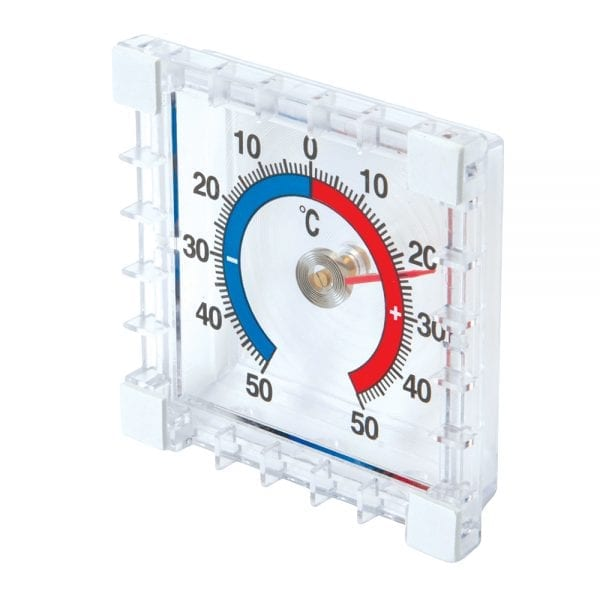 Indoor/Outdoor Stick-On Thermometer -50° to +50°C