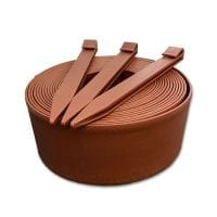 Lawn Edging Roll with Pegs---Brown