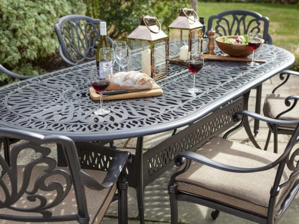 Amalfi 6 Seat Oval Dining Set 5