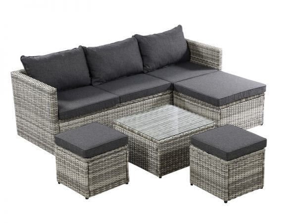 Cirrus Chaise Set with Stools - Product Image