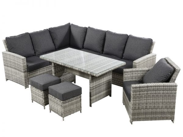 Cirrus Rectangular Casual Dining Set with Lounge Chair - Product Image
