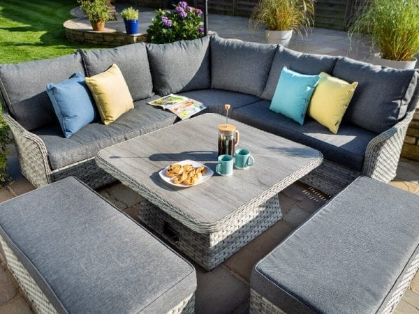 Heritage Tuscan Square Adjustable Casual Garden Dining Set 1