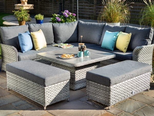 Heritage Tuscan Square Adjustable Casual Outdoor Dining Set