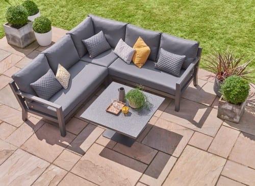 Timber Mini Corner Sofa Set