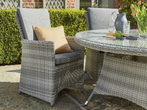 Burnham XL 2 Seat Garden Dining Set - Chairs & Table