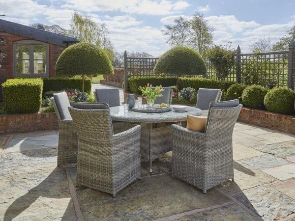 Burnham XL Six Seat Garden Dining Set