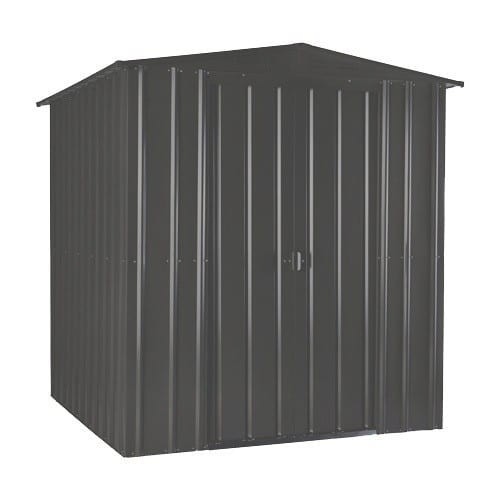 Metal Shed 6x3 - Black Lotus Apex - Doors Closed