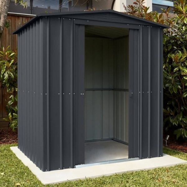 Metal Shed 6x3 - Black Lotus Apex - Installed