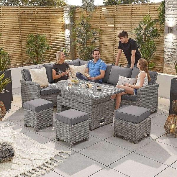 Heritage Ciara Corner Set - Rising Table - LH - White