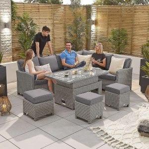 Heritage Ciara Corner Set - Rising Table - RH - White