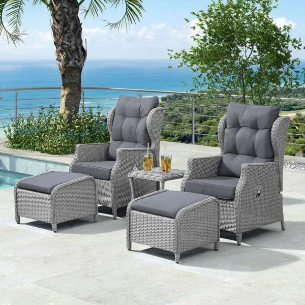 Heritage Skylar Lounge Set - White