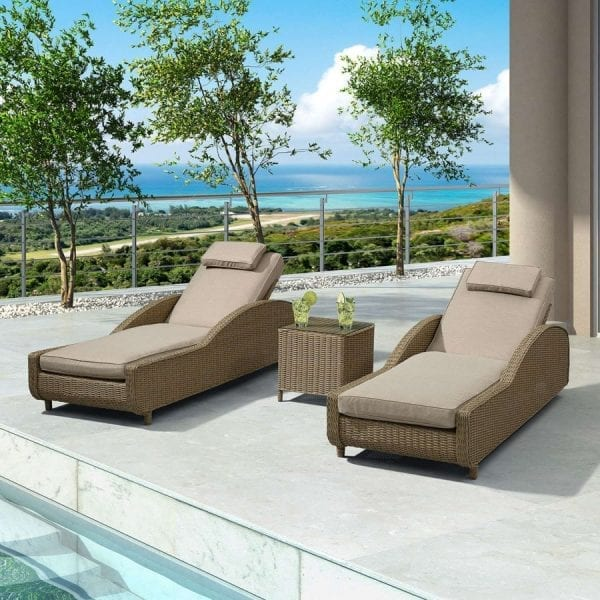 Heritage Madison Sun Lounger Set - Willow