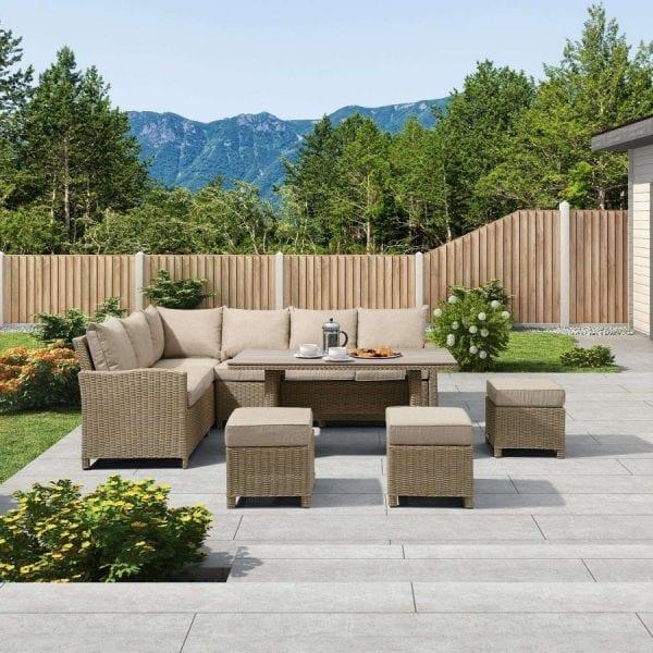 Heritage Ciara Corner Set - Polywood Table - LH - Willow