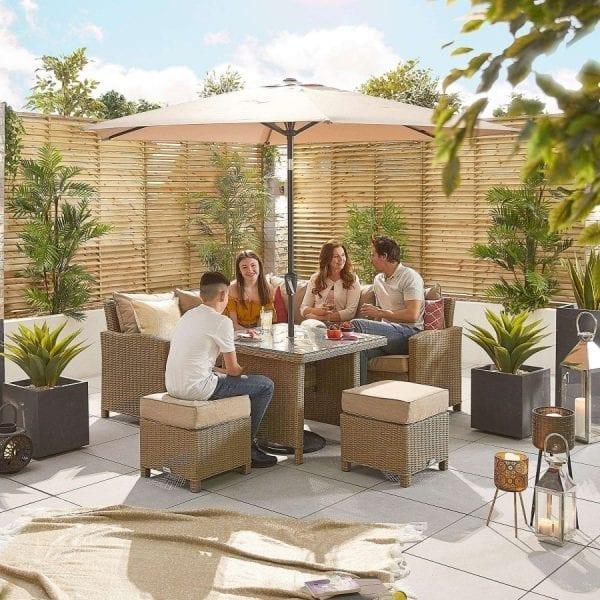 Heritage Ciara Compact Corner Set - Parasol Hole Table - Willow