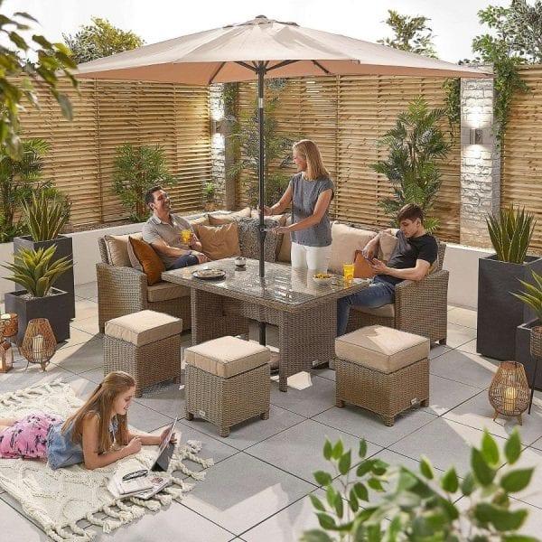 Heritage Ciara Corner Set - Parasol Hole Table - LH - Willow