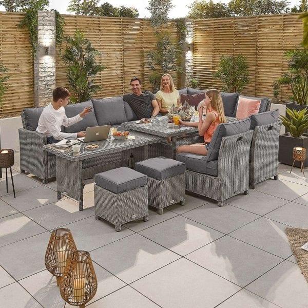 Heritage Ciara Deluxe Corner Set - Extending Table - RH - White