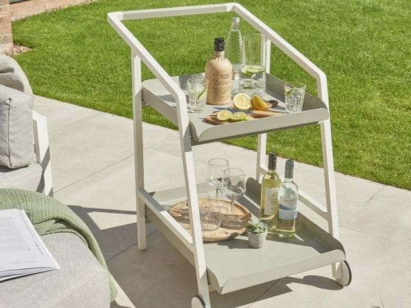 Titchwell Drinks Trolley White
