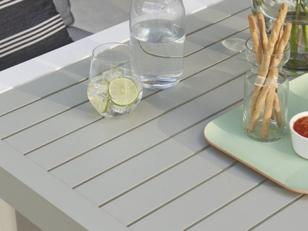 Titchwell Four Seat Garden Dining Set White - Close Up