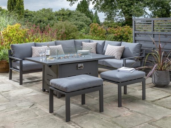 Titchwell Garden Corner Sofa with Firepit Table