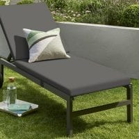 Titchwell Grey Sun Lounger