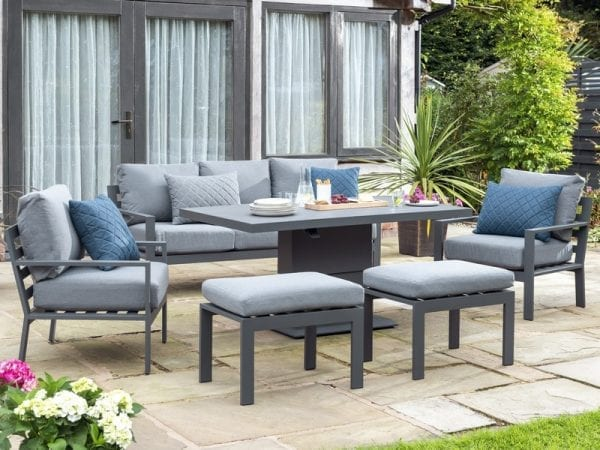 Titchwell Lounge Set with Gas Adjustable Table - Extended Table