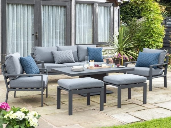 Titchwell Lounge Set with Gas Adjustable Table - Table Lowered