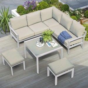 Titchwell Mini Corner Sofa Set in White