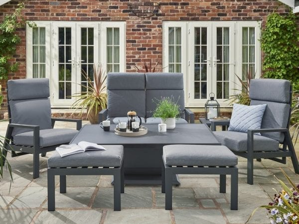 Titchwell Relax Lounge Set With Adjustable Table