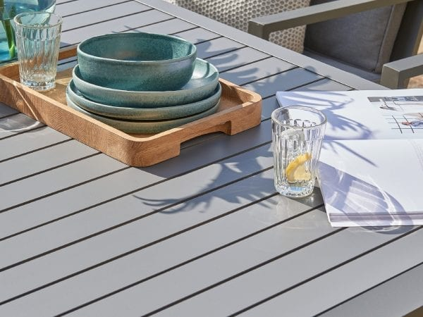 Titchwell Six Seat Garden Dining Set - Close Up