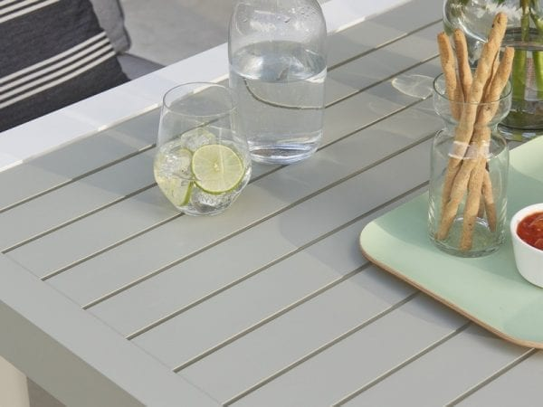 Titchwell White Lounge Set - Table Close Up