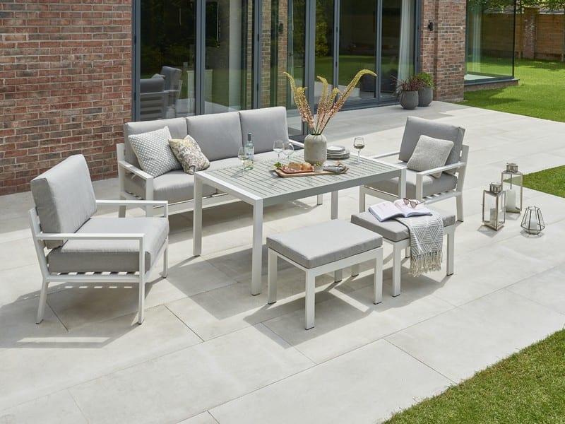 Titchwell Lounge Set White Garden, White Garden Furniture