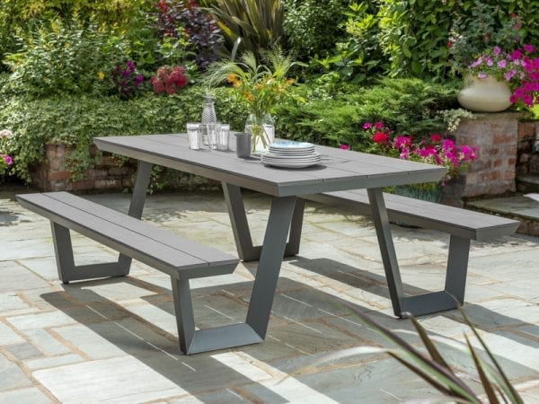 Wembley Picnic Bench - Grey Picnic Table