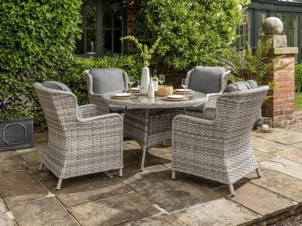 Wroxham 4 Seat Garden Dining Set - In Use