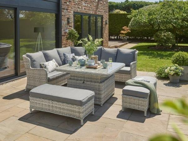 Wroxham Large Garden Corner Sofa - In Situ